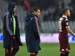 La delusione dei giocatori del Torino dopo la sconfitta contro il Chievo. Getty