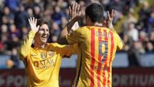 Lionel Messi, 28 anni, e Luis Suarez, 29 anni. Ap.