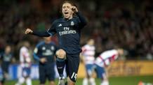 Luka Modric in gol a Granada. Afp