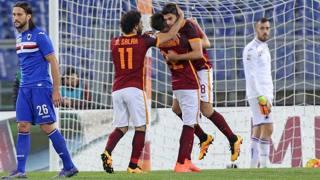 Roma-Samp 2-1, il film della partita