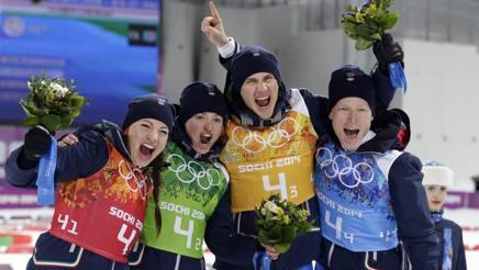 Il quartetto di Sochi ancora da sogno. Ap