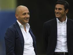 Piero Ausilio, d.s. dell'Inter. Javer Zanetti vicepresidente dell'Inter