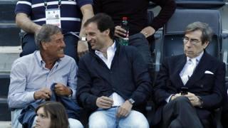 Giovanni Galeone (75 anni) e Massimiliano Allegri (48 anni). Ansa