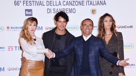 Virginia Raffaele, Gabriel Garko, Carlo Conti, Madalina Ghenea. (Lapresse)