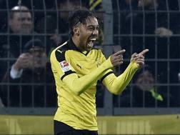 Pierre-Emerick Aubameyang, 26 anni, 20 gol in 20 partite di Bundesliga. Ap