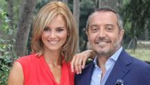 I conduttori di Uno Mattina Francsca Fialdini, 36 anni, e Franco Di Mare, 60 anni.