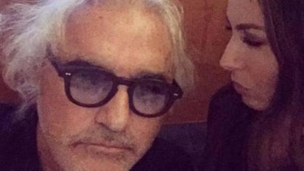 """Flavio Briatore (65 anni) e la moglie Elisabetta Gregoraci (36) nel selfie """"incriminato"""""""