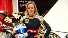 Carmen Jorda, pilota  sviluppatrice  della Renault. Archivio