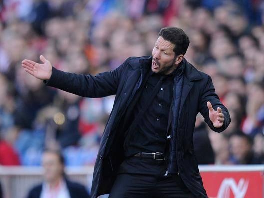 Diego Simeone, allenatore dell'Atletico Madrid. Getty