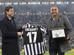 David Trezeguet con Andrea Agnelli. Lapresse