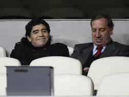 Diego Armando Maradona (55 anni) e Carlos Bilardo (76). Reuters
