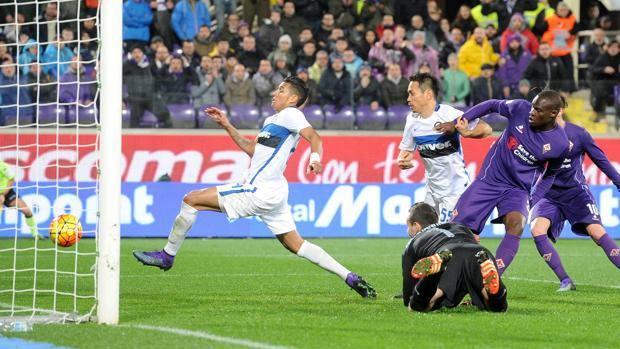 Il gol partita di Babacar, al primo minuto di recupero. LaPresse