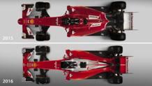 La Ferrari 2016 e la 2015: impressionante il retrotreno rastremato