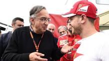 Il presidente Sergio Marchionne con Vettel