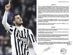 Alvaro Morata, 22 anni, ed il contratto della sua cessione dal Real Madrid alla Juventus, pubblicato da Football Leaks