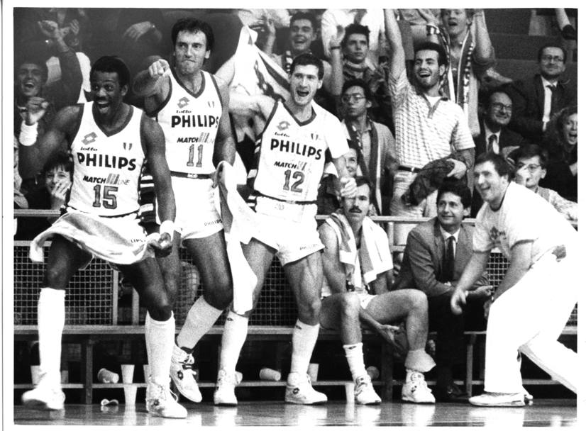 1989: Bob McAdoo, Dino Meneghin, Antonello Riva e Mike D'Antoni (Daily for Press)