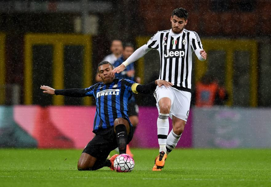 Juan Jesus in tackle su Morata. Getty