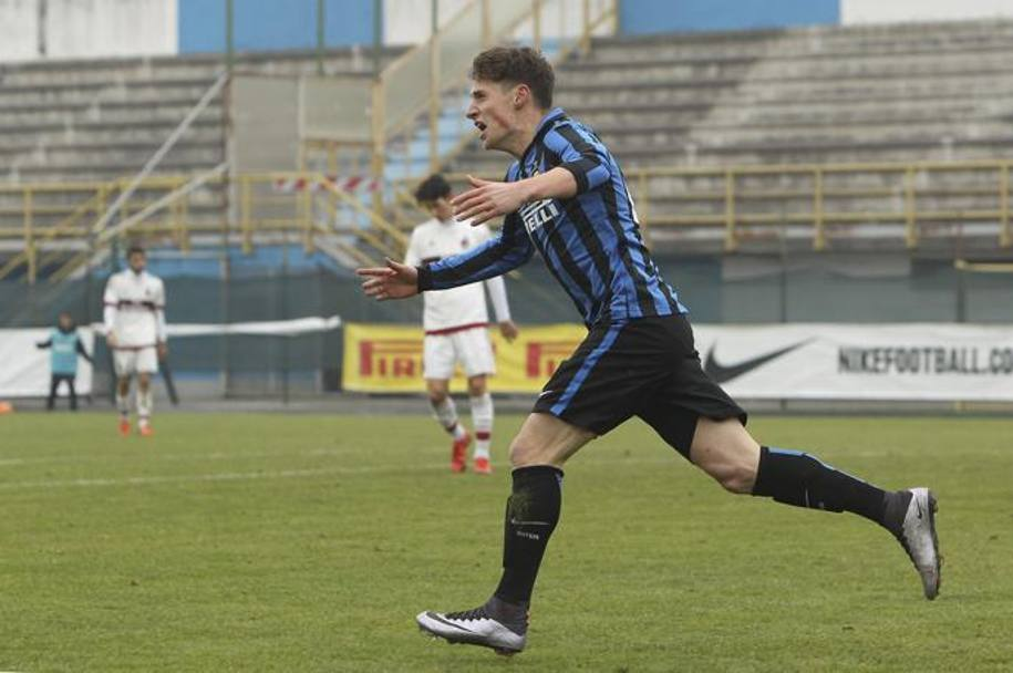 Pinamonti, classe '99, centravanti dell'Inter e dell'Under 17. Getty Images