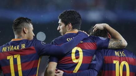 Neymar, Suarez e  Messi. Lapresse