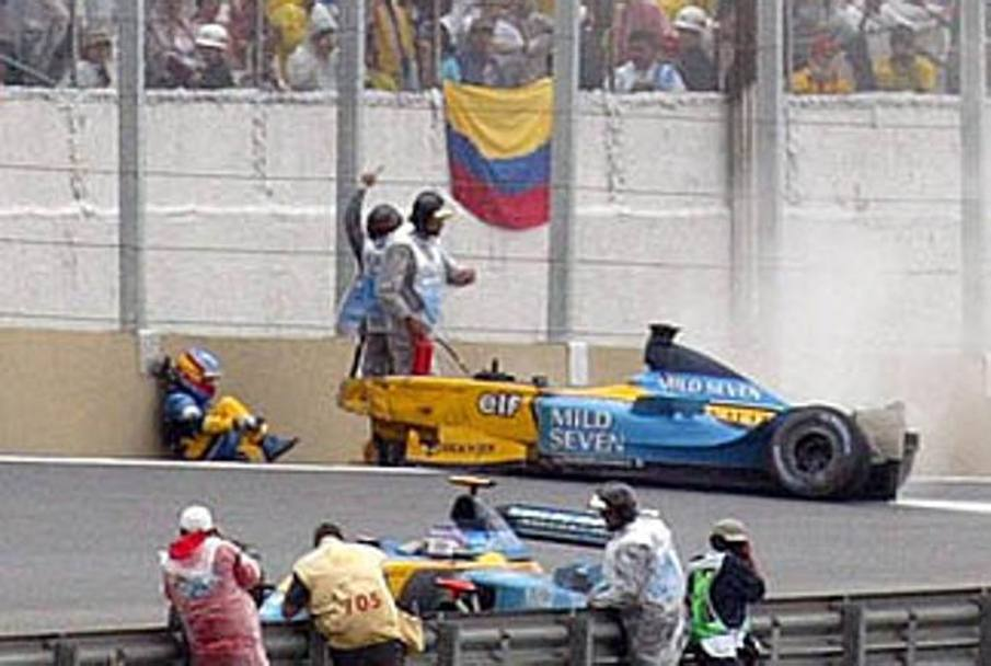 Gli altri incidenti spaventosi nella carriera di Alonso: iniziamo da Interlagos 2003