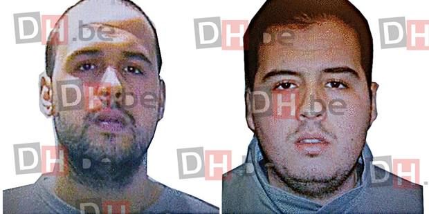 La foto tratta da DH.be dei due kamikaze dell'aeroporto di Bruxelles