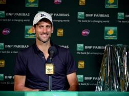 Novak Djokovic, 28 anni, vincitore a Indian Wells AFP