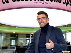 Eusebio Di Francesco, 46 anni, tecnico del Sassuolo, durante la visita in Gazzetta. Bozzani
