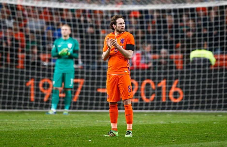 L'applauso di Daley Blind. Getty