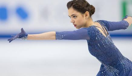 Evgenia Medvedeva, 16 anni. Afp