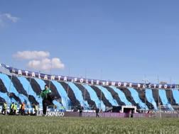 La Curva dei tifosi dell'Atalanta, allo stadio