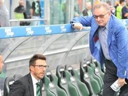 Giorgio Squinzi con Eusebio Di Francesco. Ansa