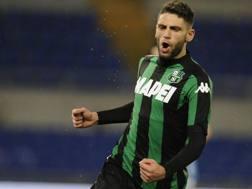 Domenico Berardi, 21 anni, attaccante del Sassuolo e della Nazionale Under-21 italiana. LaPresse