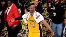 Kobe Bryant, 37 anni, ha vinto cinque titoli Nba con i Lakers. Afp