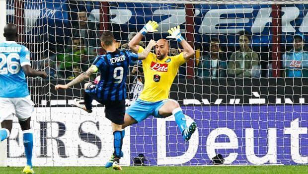 Il gol di Mauro Icardi, 23 anni. LaPresse