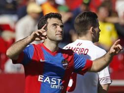 Giuseppe Rossi, 29 anni, attaccante della Fiorentina, in prestito al Levante. Epa