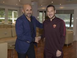 Luciano Spalletti (57 anni) e Francesco Totti (39). Getty