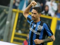 Marco Borriello, attaccante dell'Atalanta. Lapresse