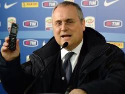 Claudio Lotito, 58 anni, presidente della Lazio dal 2004. Ansa