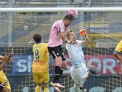 Il gol di Alberto Gilardino. Lapresse