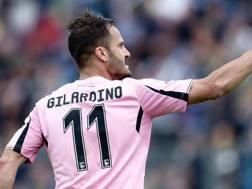 Gilardino, autore del primo gol del Palermo contro il Frosinone. Ansa