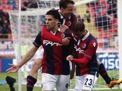 L'esultanza di Floccari per il gol del 2-0. Getty Images