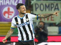 Cyril Thereau, attaccante dell'Udinese. Ansa