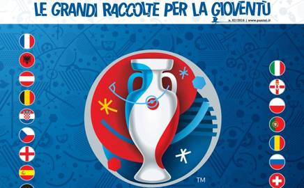 La copertina dell'album Euro 2016 Panini