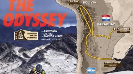 La mappa della Dakar per il 2017