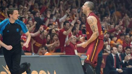 L'esultanza del giocatore del Galatasaray Blake Schilb