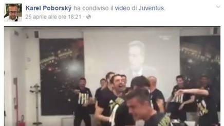 La pagina Facebook di Karel Poborsky col video pro Juve