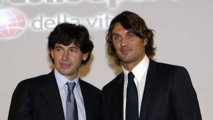 Demetrio Albertini e Paolo Maldini, i piccoli azionisti rossoneri vorrebbero ripartire da loro. It.Ph.Press