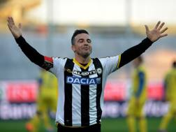 Antonio Di Natale, 38 anni, attaccante dell'Udinese dal 2004. Getty Images