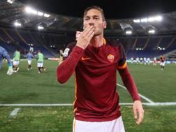 Francesco Totti, 39 anni, capitano della Roma. Ansa
