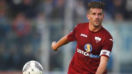 Maurizio Ciaramitaro, 34 anni, centrocampista del Trapani. LaPresse